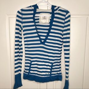 American Eagle Stripe Women Spring Sweater Hoodie